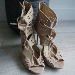 Zigi Soho Shoes - ZIGI SOHO Nude Lace Up Heels [size 7]